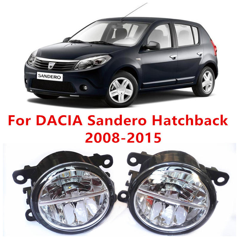 For DACIA Sandero Hatchback 2008-2015 Fog Lamps LED Car Styling 10W Yellow White 2016 new lights for lexus rx gyl1 ggl15 agl10 450h awd 350 awd 2008 2013 car styling led fog lights high brightness fog lamps 1set