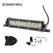 ECAHAYAKU 2pcs Straight Slim LED Light Bar Double Row 7 inch 60W For SUV 4X4 truck ATV Off Road driving fog Lights car styling цена