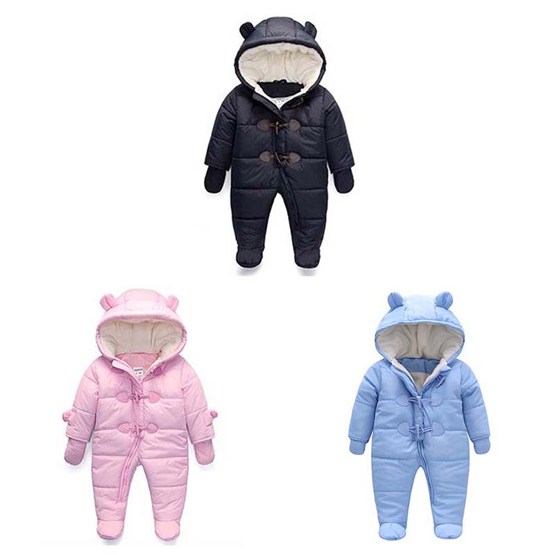Newborn Baby Rompers 100% Soft Cotton Kids Romper Long Sleeve Jumpsuit Snow Suit Girl Boy Pajamas Clothes Down Coats for Winter newborn rompers baby boy romper winter long sleeve cotton clothing toddler baby clothes jumpsuit warm cartoon baby boys pajamas