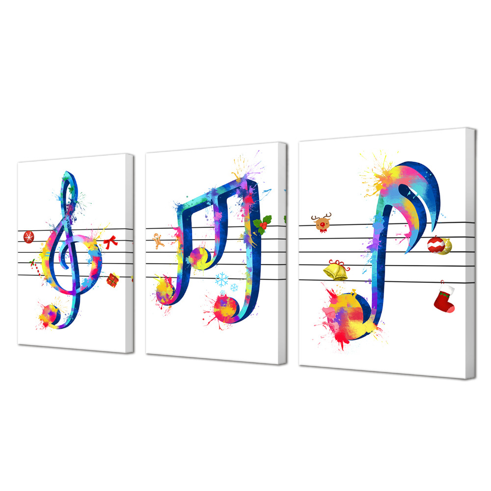 Visual Art Decor Music Note Wall Art Beautiful Music Themed Artwork Musical Posters Paintings Picture Prints On Canvas