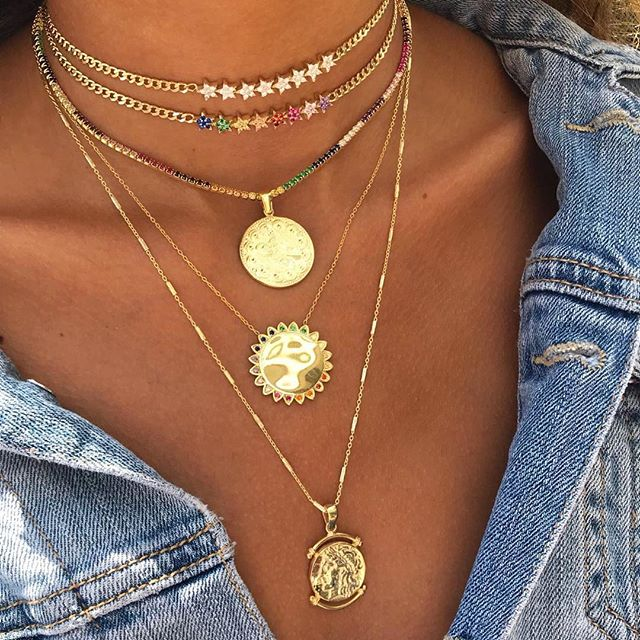 2018 christmas gift rainbow multi color star charm link chain choker gorgeous women statement necklace Cuban chain chocker-in Chain Necklaces from Jewelry & Accessories on Aliexpress.com | Alibaba Group