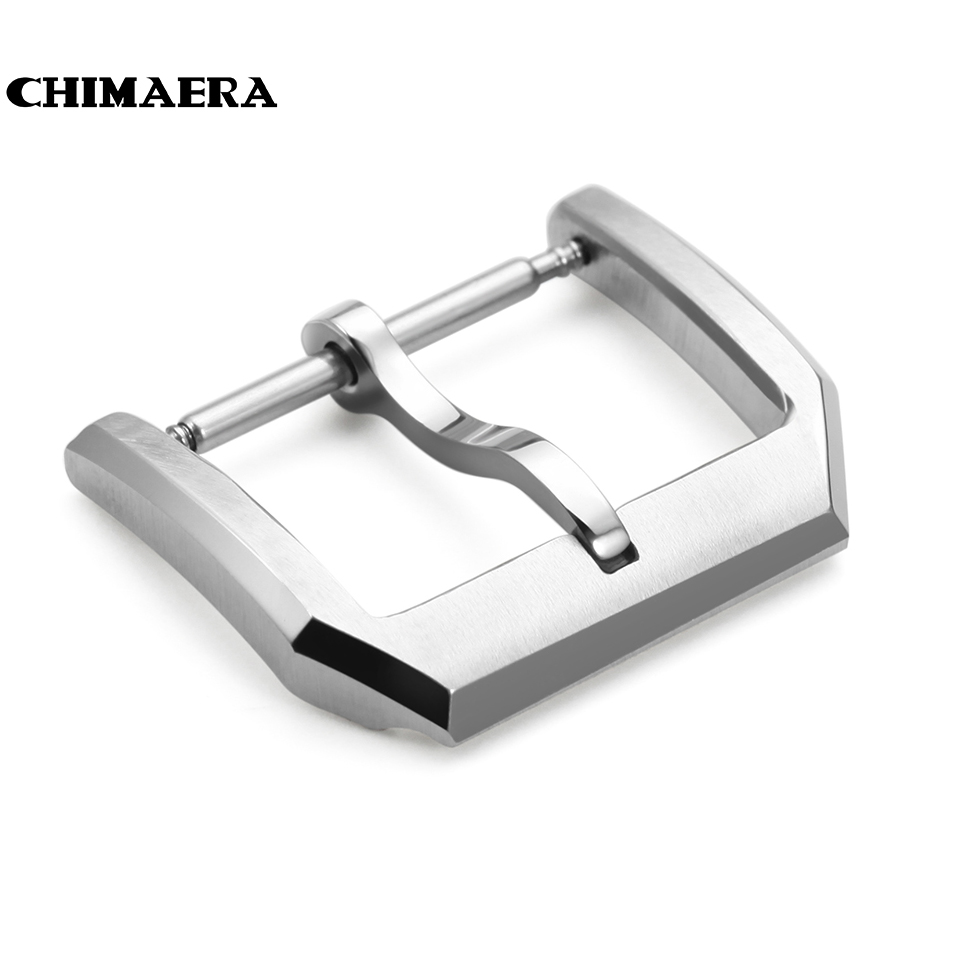 18mm Watch Buckle 316L Stainless Steel Pin Tang Buckle Brushed Watch Clasp For IWC Watch Band Strap Tang Buckle Free Shipping new arrival watch band carbon fibre watch strap with leather lining stainless steel clasp free shipping