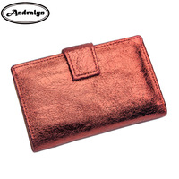 Andralyn Bright Genuine Leather Women Wallets Retro Cluthes Purse Female Coins Credit Card Holder Purse Wallet