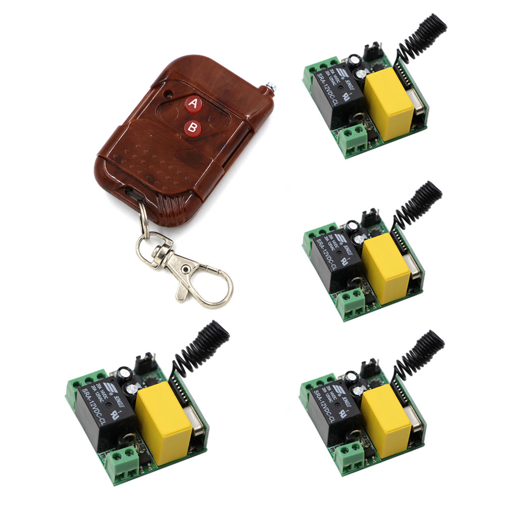 New Wireless Remote Control Switch AC220V 1CH Relay Receiver Transmitter Power Switch Radio Controlled ON OFF 315MHZ/433Mhz ac 220 v 1 ch wireless remote control switch system 4x transmitter with 2 buttons 1 x receiver light lamp ledon off 315 433mhz