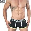 Pink hero marca hombre sexy ropa interior boxer hombres del algodón cómodo bragas calzoncillos calzoncillos de diseño de moda masculina de los hombres