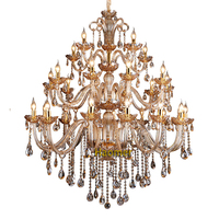 Luxury crystal chandelier crystal pendant beads creative suspension lamp European style candle bulb lamp hotel lighting parlor