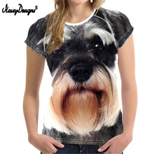 NoisyDesigns Wholesale 3D Schnauzer Women T