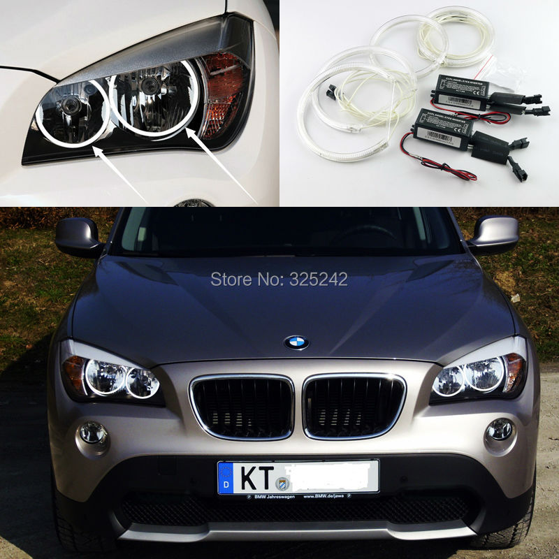 For BMW X1 E84 2010 2011 2012 2013 2014 Halogen headlight Excellent Ultra bright illumination CCFL Angel Eyes kit Halo Ring футболка 2 штуки quelle lascana 394611