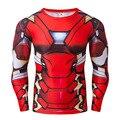 Marvel DC Comics Superhero Ironman Хэллоуин Косплей Костюм Мода Мужская С Длинным Рукавом Футболки Сжатия Crossfit Топы S-4XL