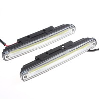 2 X 18cm COB LED Super White Lamp Car Vehicle Daytime Running Light With Installation Bracket