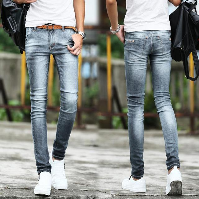 Aliexpress.com : Buy Jeans Men 2016 Autumn Winter Silver Stylish ...