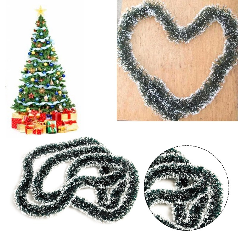 Christmas Decoration Garland Tree Ornament Tinsel 200CM Accessory Party Supplies