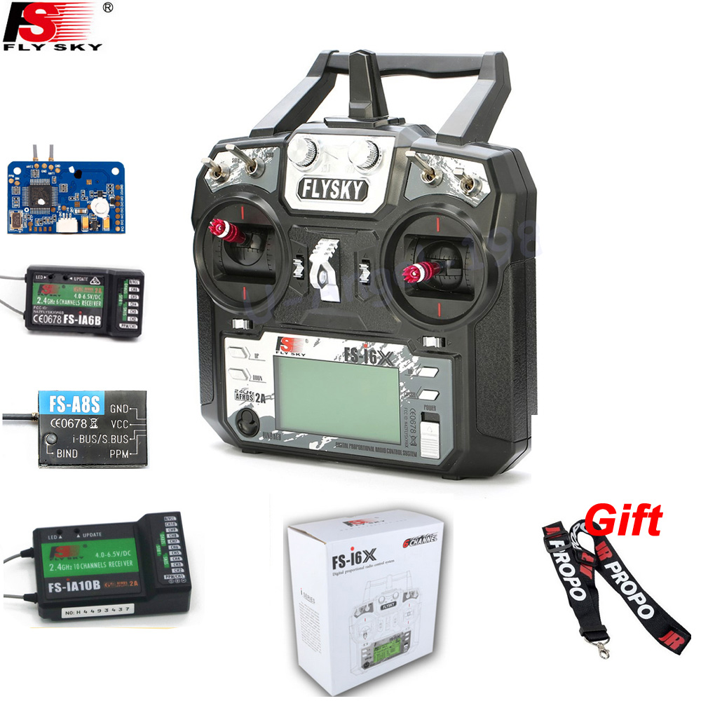 D'origine Flysky FS-i6X 10CH 2.4 GHz AFHDS 2A RC Émetteur Avec FS-iA6B FS-iA10B FS-X6B FS-A8S Récepteur Pour Rc Avion Mode 2