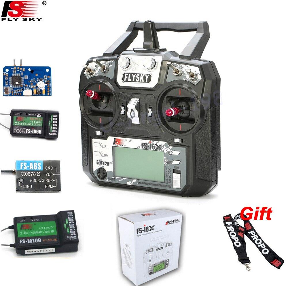 Original Flysky FS-i6X 10CH 2,4 GHz AFHDS 2A RC con el transmisor de FS-iA6B FS-iA10B FS-X6B FS-A8S receptor para Rc modo Avión. 2