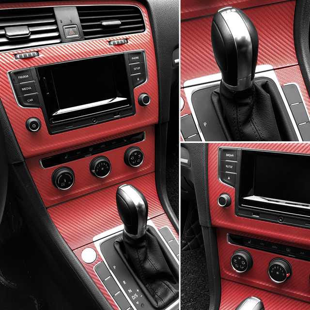 30cm x 127cm 3D fibra de carbono vinilo revestimiento para coche hoja rollo película coche pegatinas y calcomanías motocicleta accesorios de estilo de coche automóviles