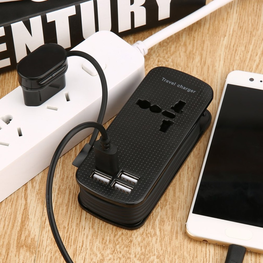 EU UK AU 4.2A Universal 4 USB Ports Multi Adapter Office Travel Wall AC Charger Fashionable Structure AC Power Plug