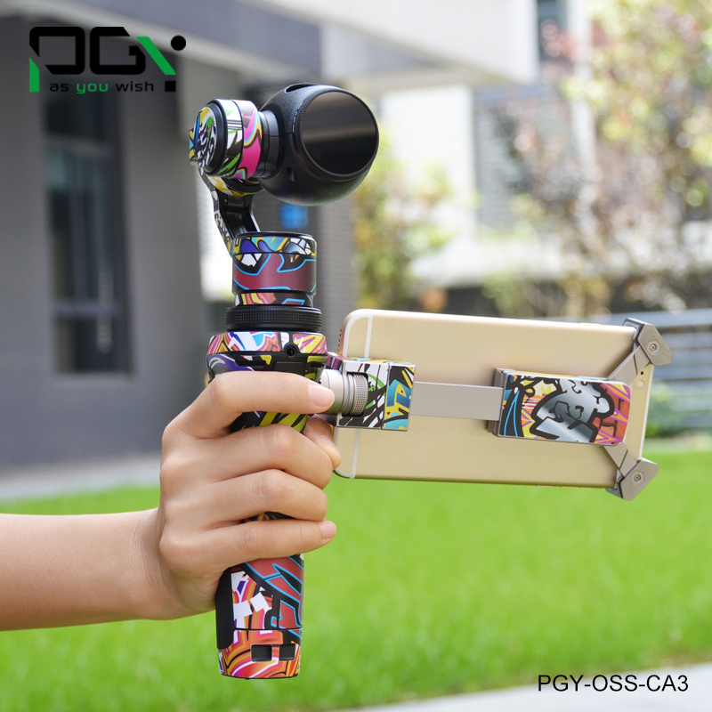 PGY PVC Skin Decal Sticker OSMO Handheld 3-Axis Gimbal X3 4K HD Camera Shell version Quadcopter PGY-OSS-CA3 pgy dji phantom 4 3 professional accessories lens filter 6pcs bag nd4 nd8 mcuv cpl cover gimbal camera quadcopter drone part