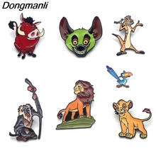 P3350 Dongmanli The Lion King Enamel Pin Brooches Cartoon Creative Metal Brooch Pins Badge backpack bag Collar Jewelry