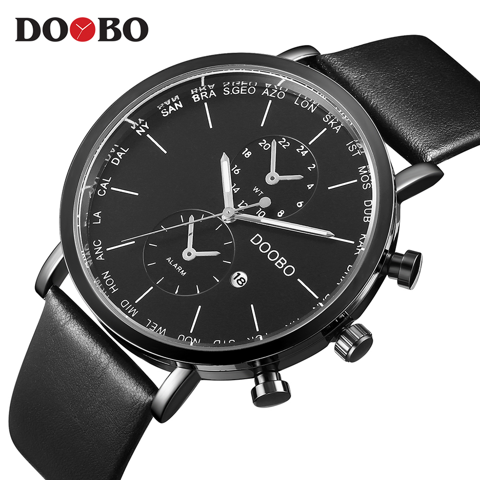 Quartz Watch Men Watches Top Luxury Brand Famous Sport Watch Male Clock For Men Hodinky Relog Relogio Masculino Business DOOBO classic women watch men top famous luxury brand quartz watch star leather student watches for loves relogio feminino clock hors