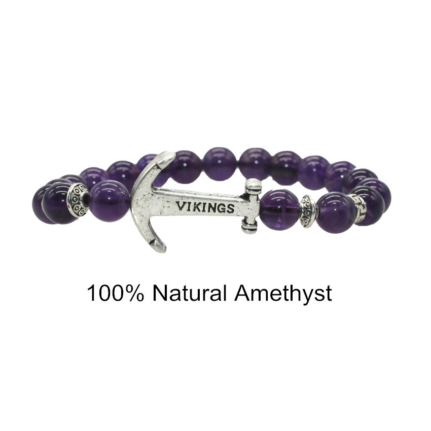 Jewelry & Accessories 10mm Amethystbracelets For Women And Men Natural Stone Elastic Rope Chain Strand Bracelet