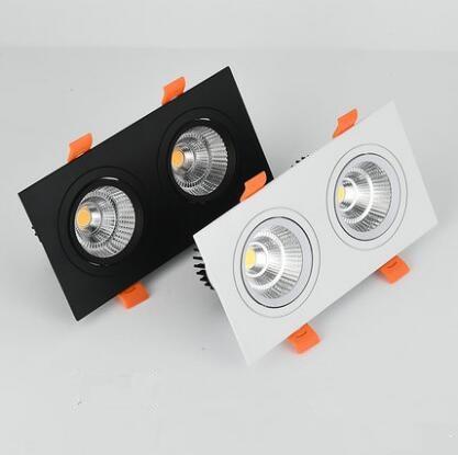1 stücke doppel platz Dimmbare Led downlight licht COB Decke Spot Licht 20w 30W LED decke einbau Lichter innen Beleuchtung