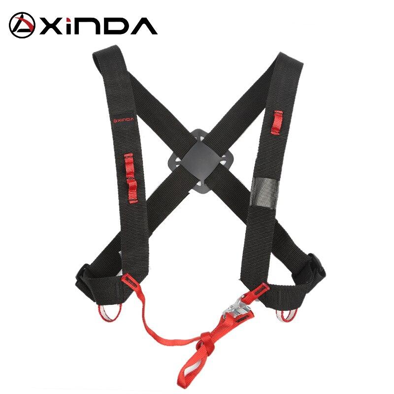 XINDA Camping Ascending Decive Shoulder Girdles Adjustable SRT Chest Safety Belt Harnesses Rock Climb Safety Protection Survival belt