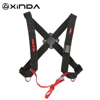 XINDA Camping wznoszące się paski na ramię regulowane SRT klatki piersiowej szelki bezpieczeństwa wspinaczka skalna ochrona bezpieczeństwa przetrwanie tanie i dobre opinie Sprzęt ściany Black+Red H-BD04 300g Polyester