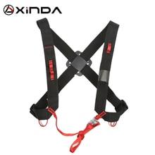 Xindaキャンプ昇順deciveショルダーガードル調節可能なsrt胸安全ベルトハーネスロック登る安全保護サバイバル