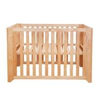 HOUSBAY высокое качество 4 в 1 вырасти до детская кровать, ASTM Стандартный и Регулируемый Многофункциональный Деревянный Дети кровать с колёса д