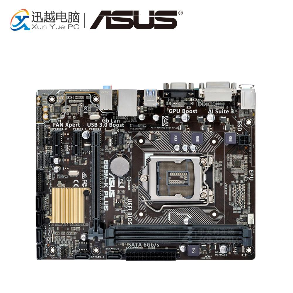 Asus B85M-V5 PLUS Desktop Motherboard B85 Socket LGA 1150 i7 i5 i3 DDR3 16G SATA3 Micro-ATX asus ex b85m v desktop motherboard b85 socket lga 1150 i7 i5 i3 ddr3 16g sata3 usb3 0 micro atx