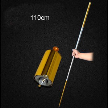 цена на 110CM length Appearing Cane side gold middle silver cudgel metal magic tricks professional magician stage street magie illusion