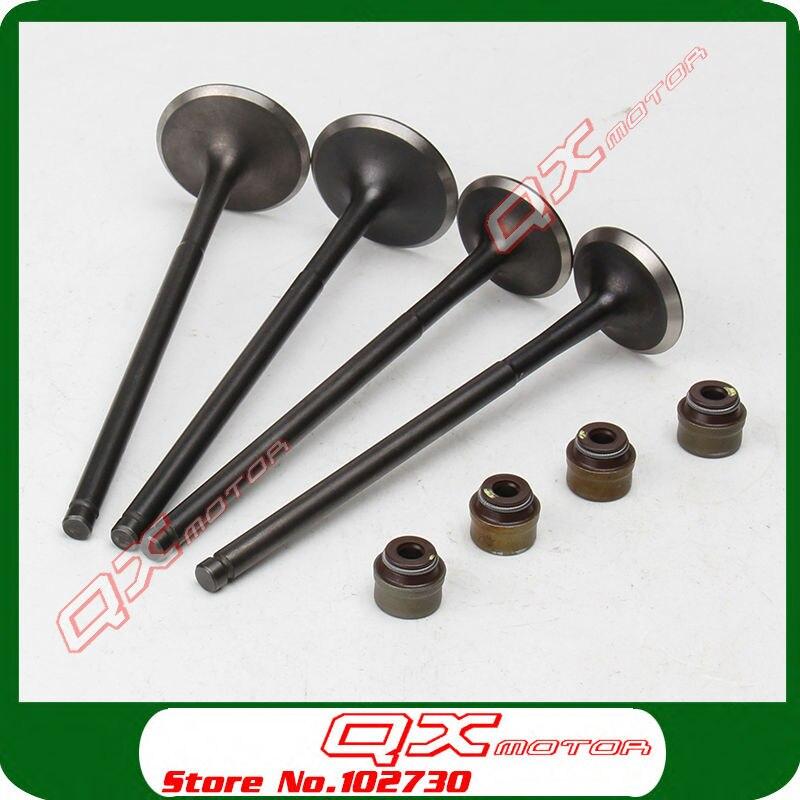 Nc250 Двигатели для автомобиля части Клапан комплект Zongshen 4 vavles Двигатели для автомобиля части Клапан в/EX и Клапан масло море комплект Бесплат...