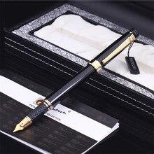 Pimio перьевая ручка Picasso picasso ps 917 Золотая клипса Серебряная Студенческая Учительская деловая подарочная коробка в римском стиле в упаковке Бесплатная доставка