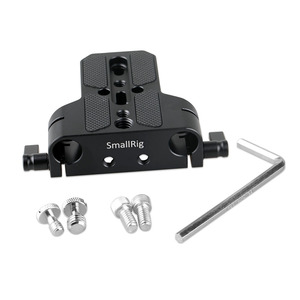 Image 2 - SmallRig DSLR Camera Plate Universal Baseplate with Dual 15mm Rod Clamp for Sony FS7/ A7 serieso for Follow Focus 1674