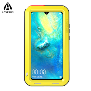 Image 2 - Dla Huawei Mate 20 oryginalny Lovemei aluminium Metal + szkło gorilla Shock Drop wodoodporna obudowa dla HUAWEI Mate 20 pro/Mate 8 9