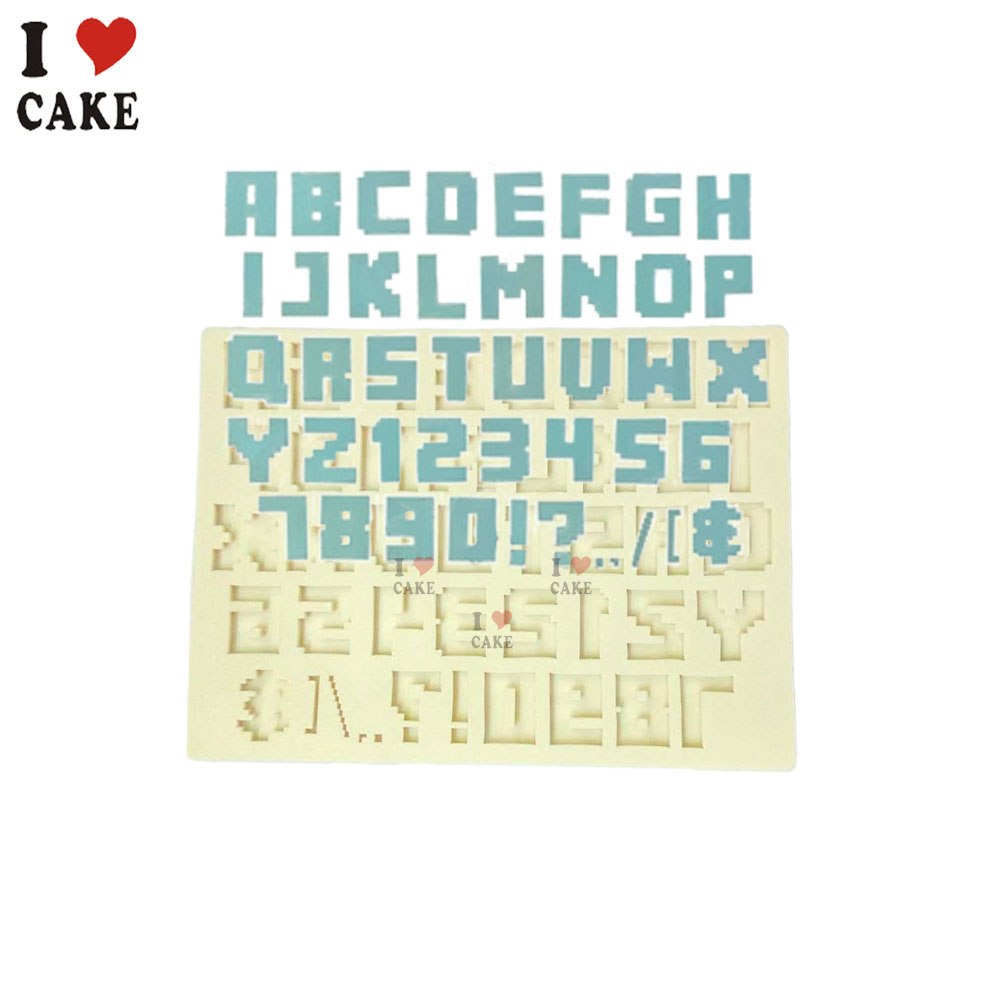 Cake Decorating Number Of Issues : 26 English Letters Number Silicone Mold Chocolate Fondant ...