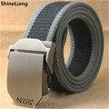 Cinturón táctico Hombres de las mujeres de Alta calidad de aleación de hebilla de cinturón de lona Militar Cuerpo Ancho 3.8 CM de Espesor de 4 MM Longitud 110/140/160 CM Diseñadores