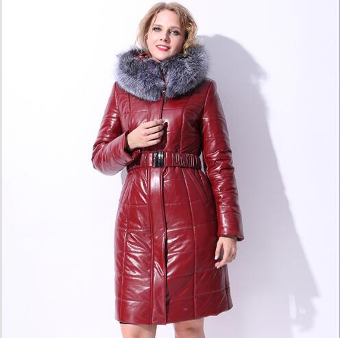 Nouveau Vers Manteau Femme Plus Le 2018 Fashion Col Chameau Bas Hiver Parka Fourrure Long Red Taille Chaud Femmes Fit De Veste Wine Haute Qualité Slim La Grand dfpXqwX
