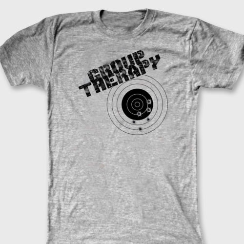 GROUP THERAPY Funny Target Shooting T Shirt Men Gun Rights