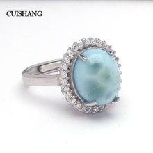 Женское кольцо с ларимаром CSJ, из стерлингового серебра 925 пробы, модные и ультрамодные ювелирные украшения для свадьбы и помолвки