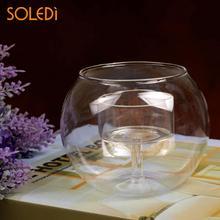 Изысканный Хрустальный стеклянный канделябр для нового года свадьбы для украшения дома подсвечник для празднования Кофейни подсвечник