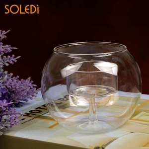 Candle-Holder Glass Crystal Celebration Wedding for New-Year Coffee-Shop Exquisite