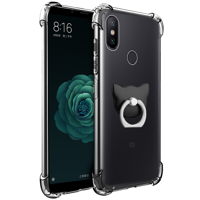 For <font><b>Xiaomi</b></font> <font><b>Redmi</b></font> MAX 2 A1 A2 5X 6 6X 8 8SE 9 Play Y1 S2 Note 4 <font><b>4A</b></font> 4X 5 5A 6 6A 6 7 Pro Lite Plus Luxury <font><b>3D</b></font> Cat Ring Case Cover image