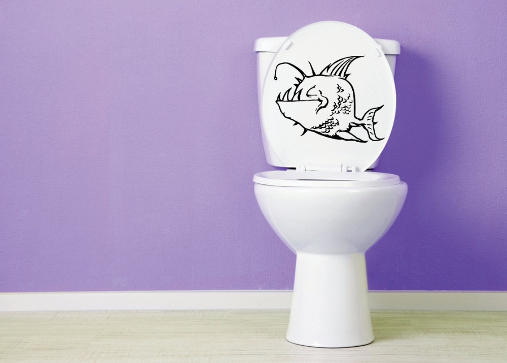 Lighting Fish Vinyl Toilet Stickers Bathroom Toilet Seat Decal Washroom  Toilet Wall Sticker Decor Home DecorCompare Prices on Fish Toilet Seat  Online Shopping Buy Low Price  . Tropical Fish Toilet Seat. Home Design Ideas