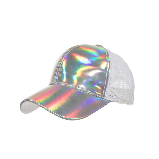 Unisex laser light net mesh cap baseball cap sun hat Summer Fashion Sport Baseball Caps Women Men Cotton Sun Cap Beyzbol sapkasi