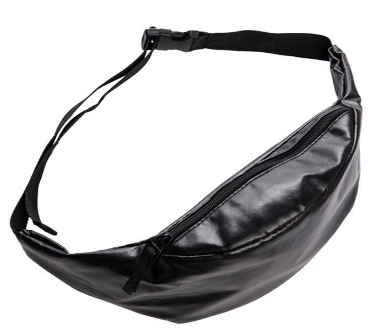 nueva cuero negra de moda correa bolsa sólida 2016 de cintura 2018 vqZHwgg