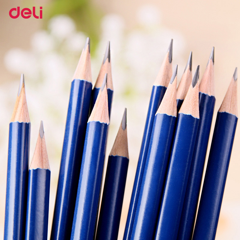 Deli 12ks za sadu HB Pencils Stationery Office & School Supplies Cute Candy color Wood pencil for student drawing writing