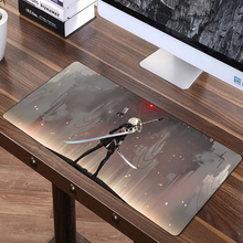 FFFAS 70x30cm Speed Large Mouse Pad Mat Washable Gaming Big Mousepad Desk Cushion NieR Automata YoRHa Keyboard Shop Gift Prize