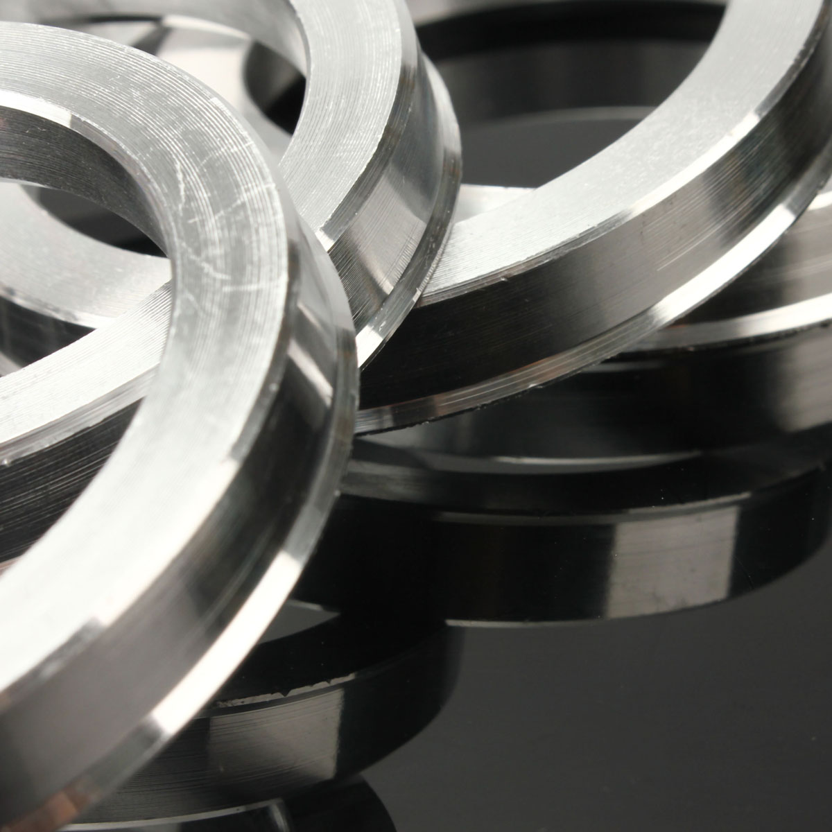 Set of 4x Spigot Rings 72,6-64,1 Car Alloy Wheels Hub centric 72.6-64.1 H 6 mm