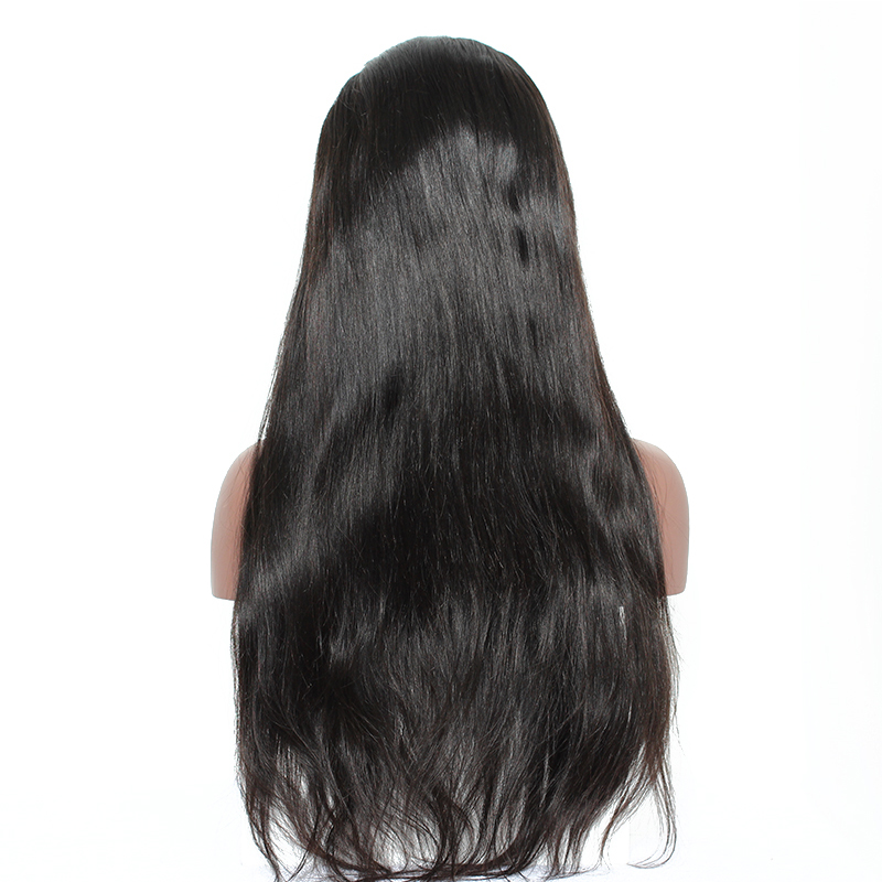 13x6 Lace Front Wig 150% Density Straight Full Human Hair Wigs For Women Natural Black Peruvian Remy Hair Wigs Sunny Queen